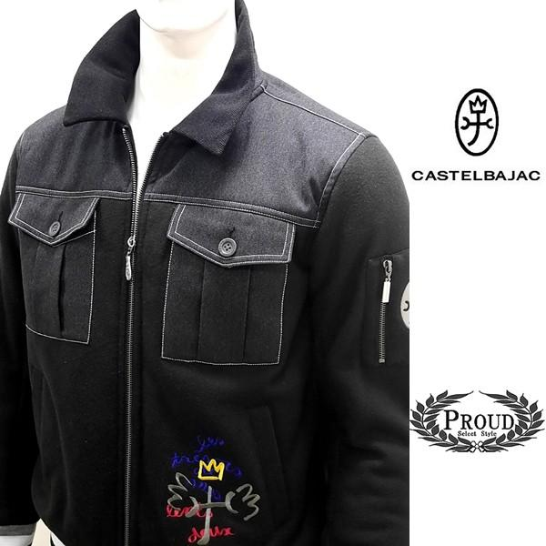 カステルバジャック ¥45000+税 [48/L]キルティング ジャケット メンズ フロントカラーアイコン 90825028               jcTCfm 21310 proud