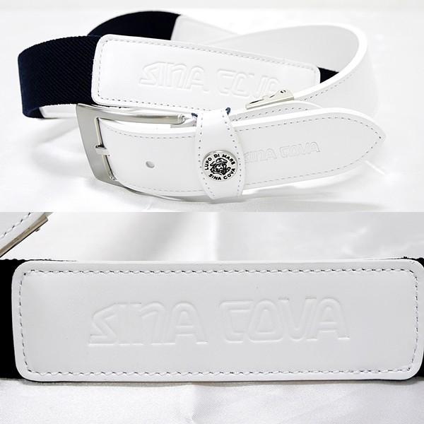 シナコバ ¥16000+税 [F]ストレッチ ベルト メンズ 牛革コンビ ロゴプレスデザイン 90901012               scTCfm 19276010|proud