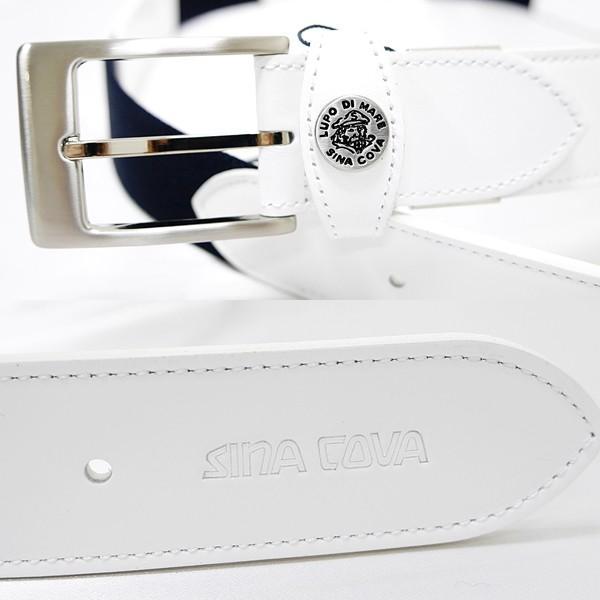 シナコバ ¥16000+税 [F]ストレッチ ベルト メンズ 牛革コンビ ロゴプレスデザイン 90901012               scTCfm 19276010|proud|03