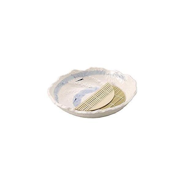 萬古焼 手作り麺鉢(すのこ付)セット メダカ(薬味入れ そばちょこ 鉢)