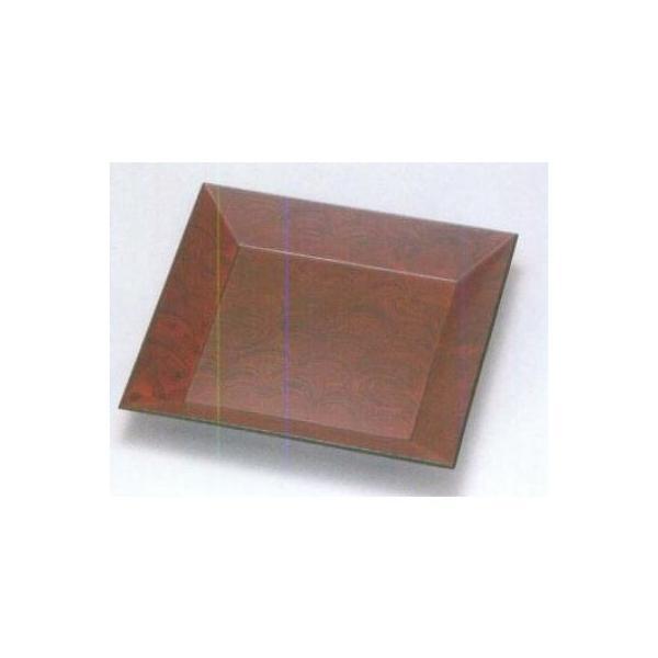 越前漆器 漆遊館 歳時記 【G4166-06】 荒波 8.0四方盆 化粧箱 24×24×2.7cm