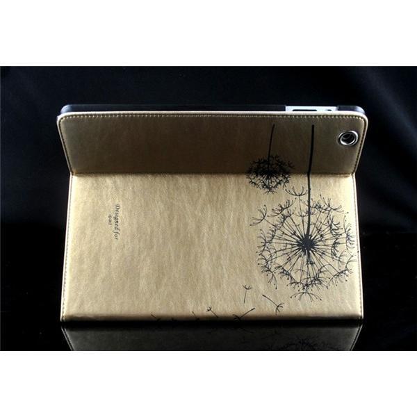 iPad2/3/4 iPad mini1/2/3 iPad air/air2ケースカバー 送料無料 アイパッド/エア/ミニ/カバー 手帳型 スタンドレザーケース リーチカラー  たんぽぽ柄 スリープ|psqyh|06
