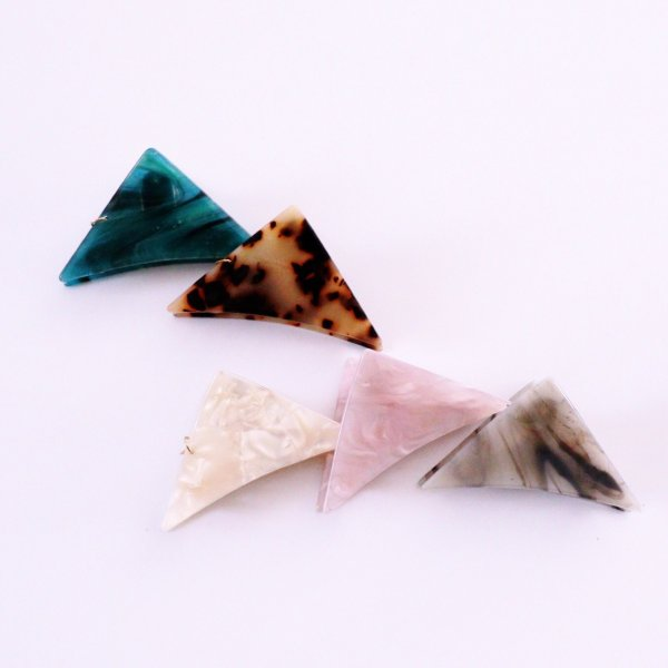 <即納> (4color) 三角 バンスクリップ ヘアクリップ