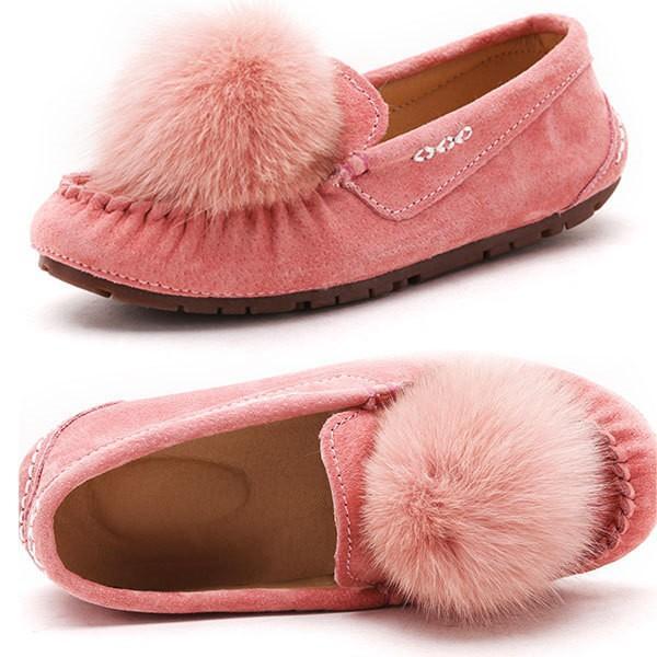 7色 モカシンシューズ スリッポン スエード調 モカシン パンプス ぺたんこ レディース リボン フラットシューズ カラフル 大きいサイズ 靴 春 秋 ボンボン