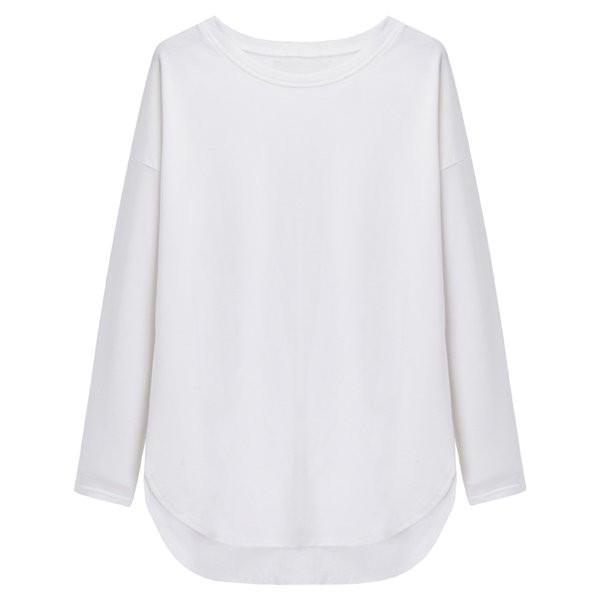 即納 送料無料 3色 tシャツ レディース 長袖tシャツ ロンT カットソー プルオーバー ロングtシャツ  ロンティー スエット ルームウエア ゆったり 春秋|puchi-syaretto|12