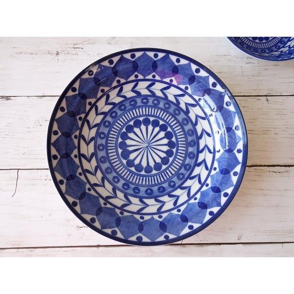 ブルーアラベスク22cmビーフカレー皿   パスタ皿 カレーパスタ皿 食器 おしゃれ 美濃焼 日本製 業務用 北欧風 puchiecho 03