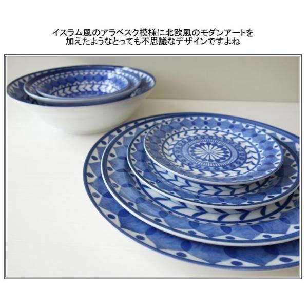 ブルーアラベスク22cmビーフカレー皿   パスタ皿 カレーパスタ皿 食器 おしゃれ 美濃焼 日本製 業務用 北欧風 puchiecho 07