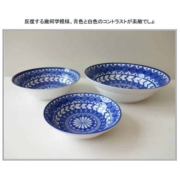 ブルーアラベスク22cmビーフカレー皿   パスタ皿 カレーパスタ皿 食器 おしゃれ 美濃焼 日本製 業務用 北欧風 puchiecho 08