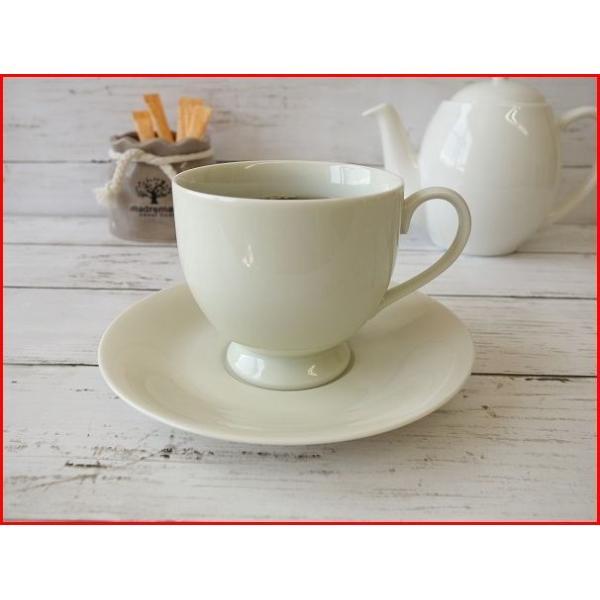 大容量キリマンジャロコーヒーカップ&ソーサー/北欧風 ティーカップ 業務用 おしゃれ 陶器 白磁|puchiecho