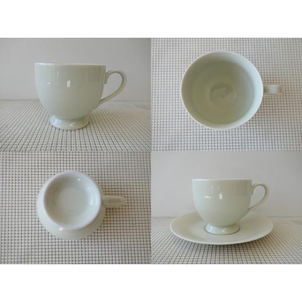 大容量キリマンジャロコーヒーカップ&ソーサー/北欧風 ティーカップ 業務用 おしゃれ 陶器 白磁|puchiecho|02