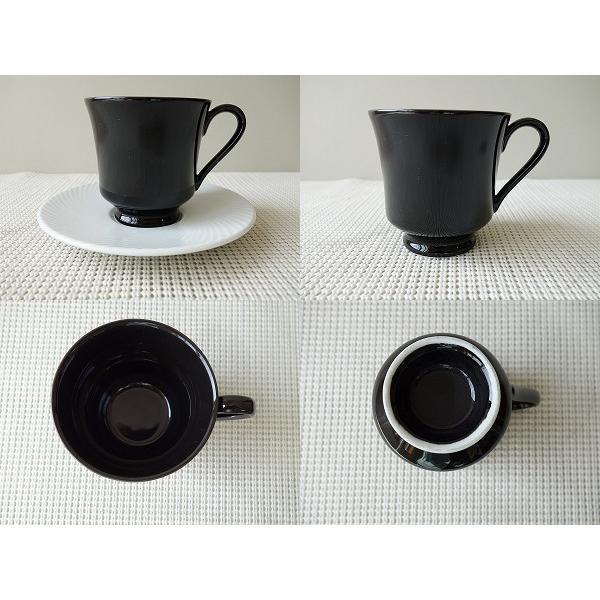 白ココア用ブラックカップ&ホワイトソーサー/カップソーサーセット 業務用 おしゃれ 陶器 白磁 puchiecho 02