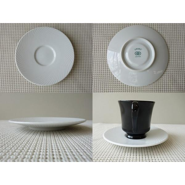 白ココア用ブラックカップ&ホワイトソーサー/カップソーサーセット 業務用 おしゃれ 陶器 白磁 puchiecho 03