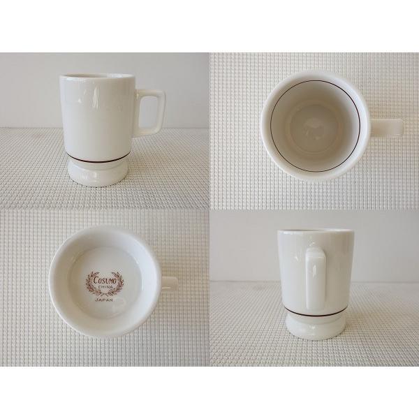 ビンテージ食器!コスモシリーズ  ロケット型マグカップ(大)/おしゃれ 美濃焼 カフェ食器 かわいい 陶器 白い食器 昭和レトロ\ キャッシュレス5%還元|puchiecho|02
