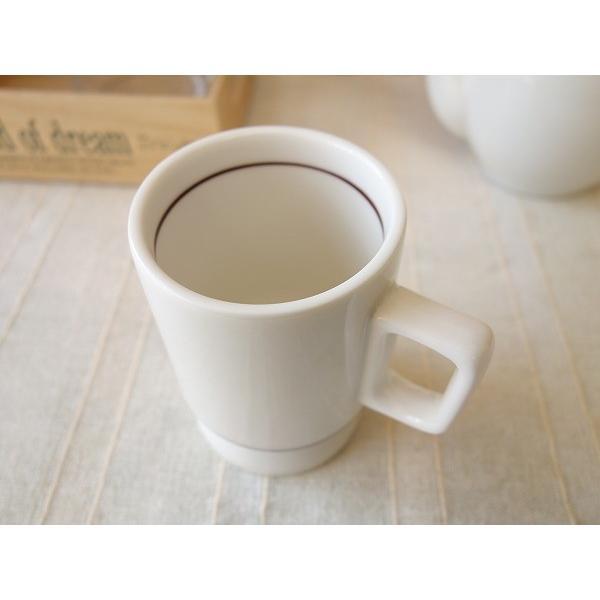 ビンテージ食器!コスモシリーズ  ロケット型マグカップ(大)/おしゃれ 美濃焼 カフェ食器 かわいい 陶器 白い食器 昭和レトロ\ キャッシュレス5%還元|puchiecho|03