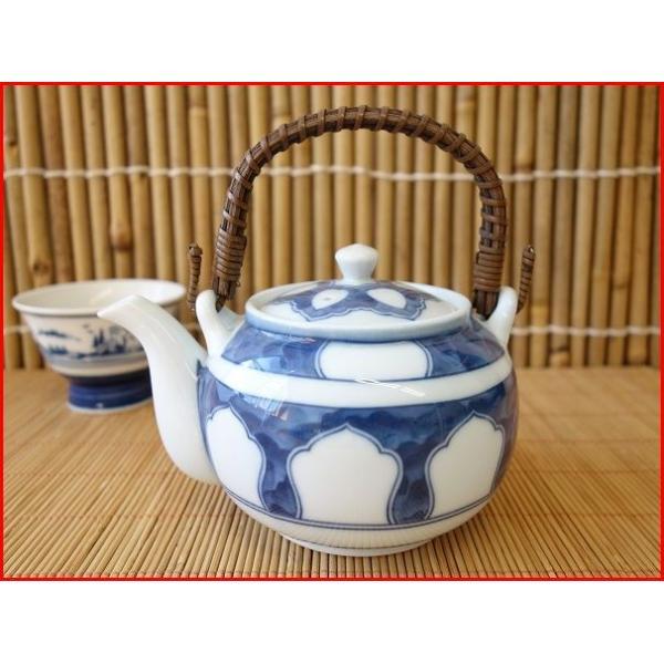 (訳あり茶器)源氏窓つる付土瓶/和食器 ポット 急須 茶器 日本茶 美濃焼 日本製 ツル\|puchiecho