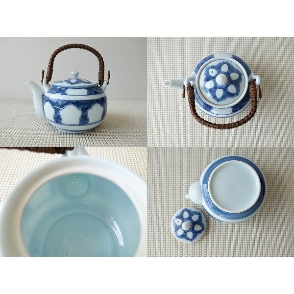 (訳あり茶器)源氏窓つる付土瓶/和食器 ポット 急須 茶器 日本茶 美濃焼 日本製 ツル\|puchiecho|02