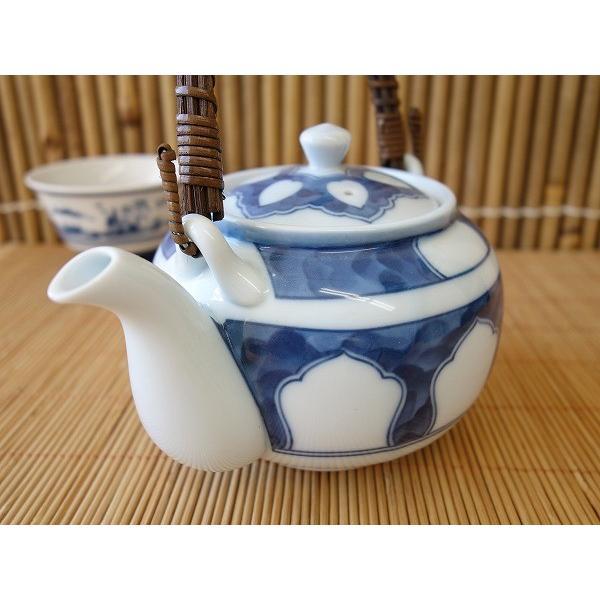 (訳あり茶器)源氏窓つる付土瓶/和食器 ポット 急須 茶器 日本茶 美濃焼 日本製 ツル\|puchiecho|03