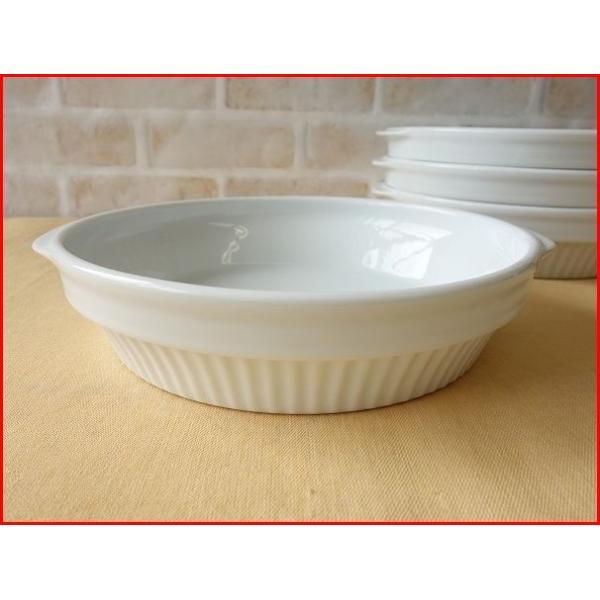 スタッキング20cmほうれん草グラタン皿/パイ皿 大 大皿 おしゃれ 丸 白 ココット スフレ ラメキン 美濃焼 日本製 食器収納|puchiecho
