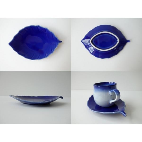 ブルーベリーのお花みたいなデミタスカップ&木の葉のソーサー\インスタ映え カップソーサーセット 陶器 おしゃれ 美濃焼  北欧風 日本製|puchiecho|06