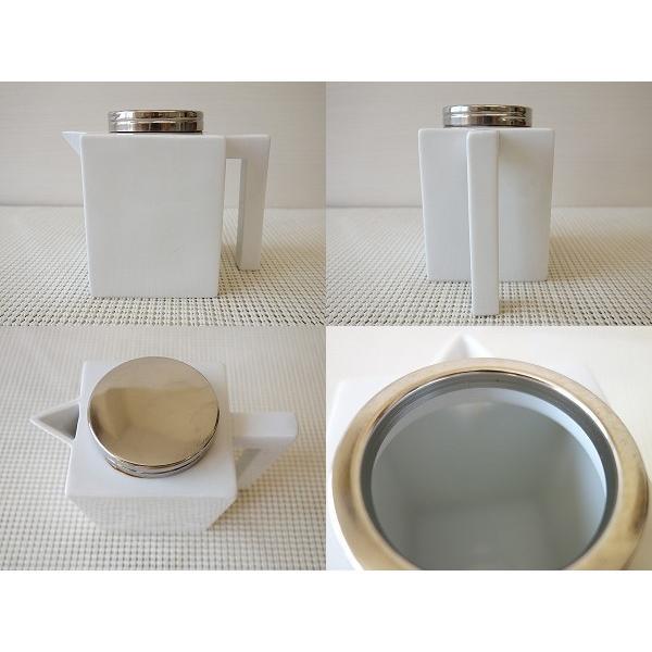 (訳あり)金具のふた付きルービックキューブ型ソース用ポット/白い食器 カフェ食器 激安 安い 砂糖入れ 美濃焼 アウトレット 日本製 おしゃれ\|puchiecho|02