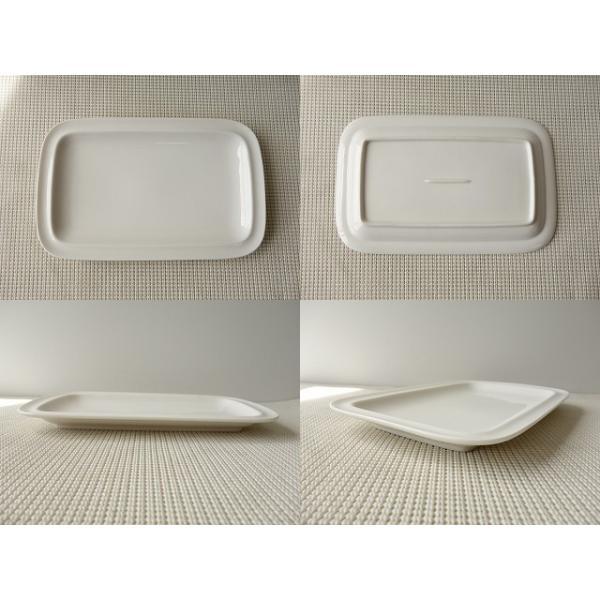 27cm長方形のサンドイッチトレー(小)/長皿  洋食器 白い食器 盛皿 大皿 オードブル\|puchiecho|05