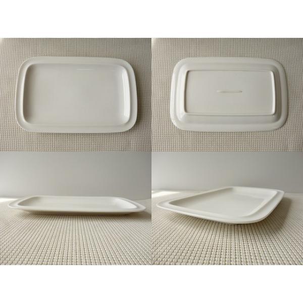 30cm長方形のサンドイッチトレー(大)/長皿  洋食器 白い食器 盛皿 大皿 オードブル\ キャッシュレス5%還元|puchiecho|04
