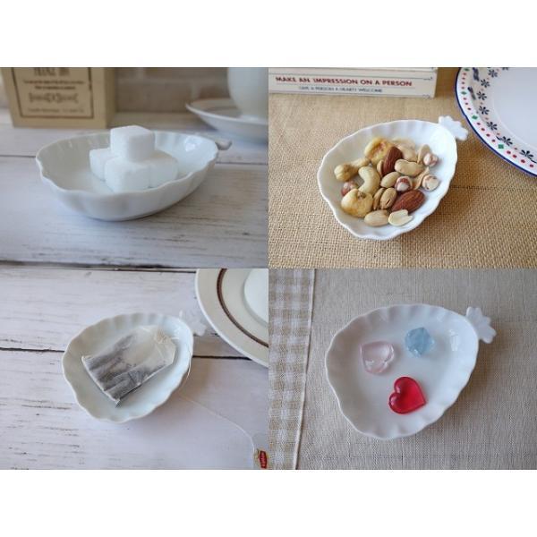 高級白磁材質!パイナップルの形をした10cmプチトレー/小物入れ/かわいい おしゃれ 小皿 豆皿  陶器 ティーパックトレイ 白い食器\|puchiecho|03
