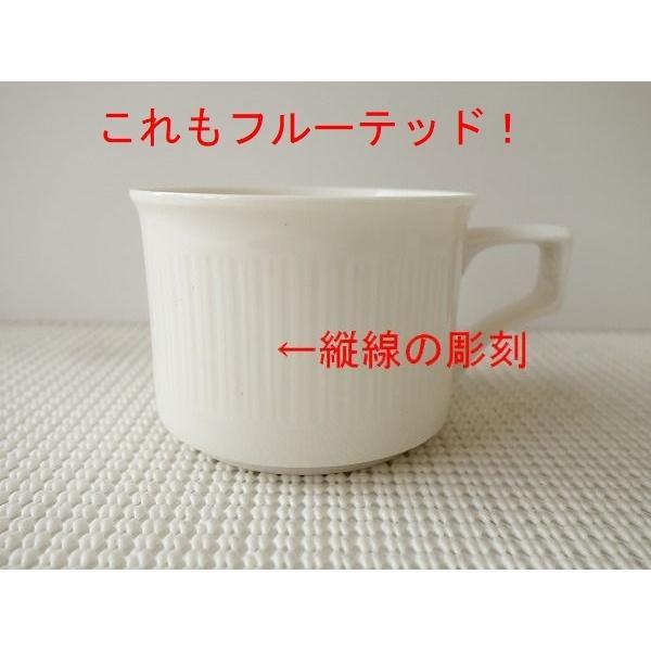 フルーテッドティーカップ&ソーサー/北欧風 ティーカップ 業務用 おしゃれ 陶器 白い食器|puchiecho|03