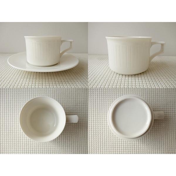 フルーテッドティーカップ&ソーサー/北欧風 ティーカップ 業務用 おしゃれ 陶器 白い食器|puchiecho|05