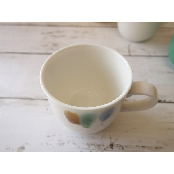(訳あり)和色カラーバリエーションミニマグカップ(三彩)/おしゃれ 美濃焼 カフェ食器 かわいい 陶器 白い食器 シンプル\ キャッシュレス5%還元|puchiecho|03
