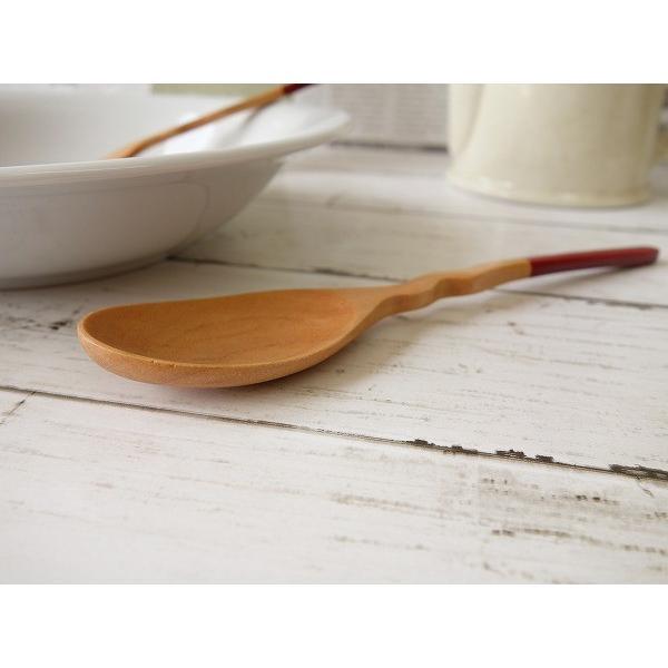 木製カトラリー20cmくねくねカレースプーン/赤/木の食器,木製食器,おすすめ,おしゃれ,通販,販売\|puchiecho|03