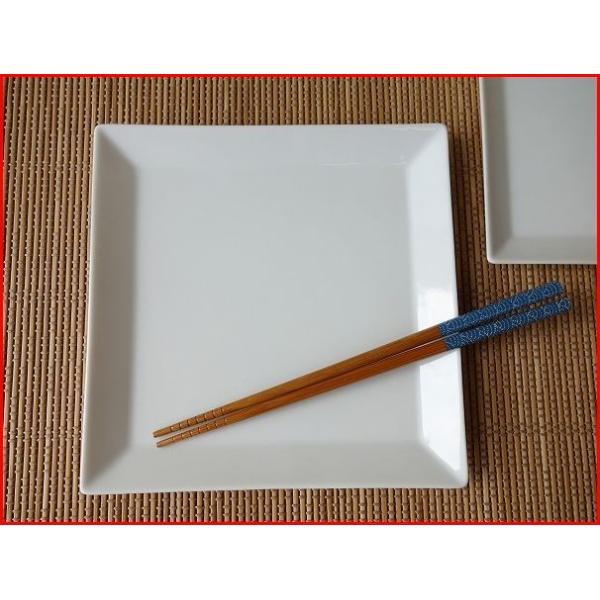 (訳あり)高級白磁材質のソリッドな19cmスクエアプレート/角皿 カフェ食器 日本製 美濃焼 おしゃれ アウトレット 白い食器 キャッシュレス5%還元|puchiecho