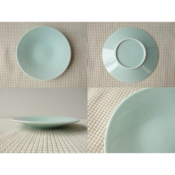 入子菱(いれこひし)模様の彫刻入り15cm和菓子取り皿/和皿 銘々皿 美濃焼 小皿 和食器 おしゃれ 陶器\ キャッシュレス5%還元|puchiecho|02
