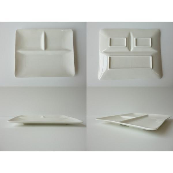 フォーマルな仕切り24cmランチプレート(ベージュ色)日本製 美濃焼 洋食器 白い食器 仕切り皿 仕切りプレート ワンプレート カフェ食器 お子様ランチ おしゃれ|puchiecho|02