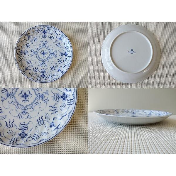 ブルーペルシアン24cmランチプレート/おしゃれ ワンプレート 大皿 食器 激安 白 北欧風\|puchiecho|02