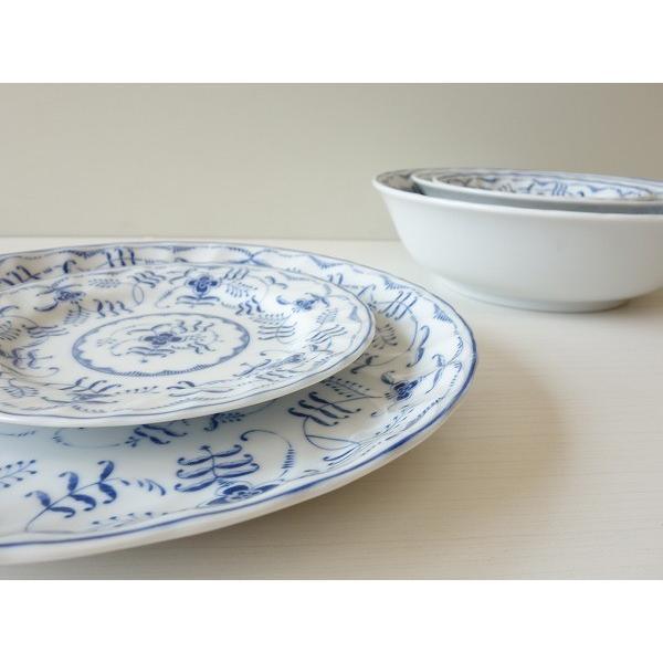 ブルーペルシアン24cmランチプレート/おしゃれ ワンプレート 大皿 食器 激安 白 北欧風\|puchiecho|08