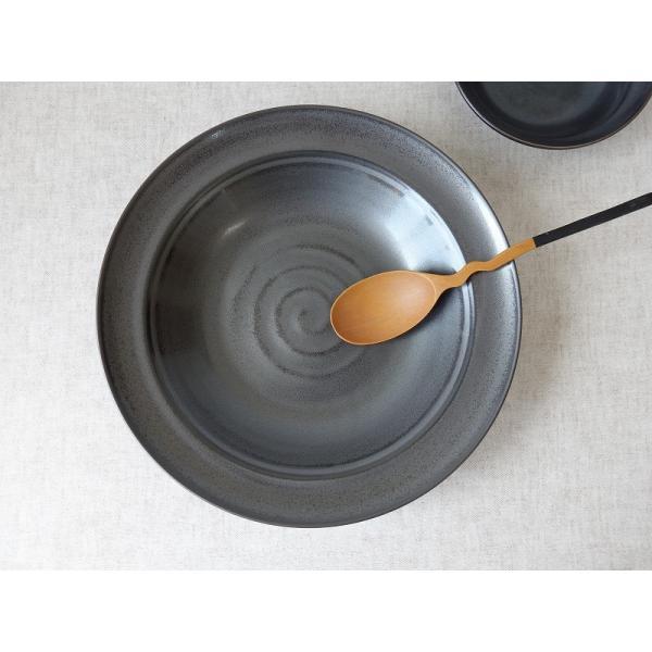 和鉄器24cm和風カレー皿  パスタ皿 カレーパスタ皿 和食器 和皿 おしゃれ 美濃焼 日本製 業務用|puchiecho|04