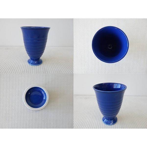 (訳あり)オーシャンブルーのフリーカップ/焼酎カップ ビアカップ タンブラー おしゃれ 美濃焼 ワイングラス かわいい 陶器 アウトレット\|puchiecho|02