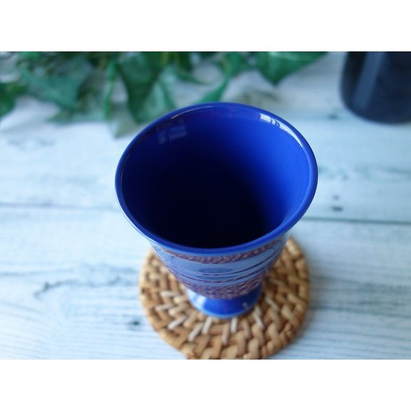 (訳あり)オーシャンブルーのフリーカップ/焼酎カップ ビアカップ タンブラー おしゃれ 美濃焼 ワイングラス かわいい 陶器 アウトレット\|puchiecho|03
