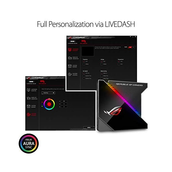 ASUS オールインワン型水冷 ユニット CPUクーラー ROG RYUJIN 360 / color OLED/Aura Sync RGB/120m|puchiplus|04