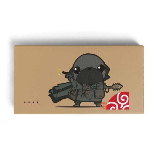 モバイルバッテリー パグ戦士!(黒パグ)|pugbiiki