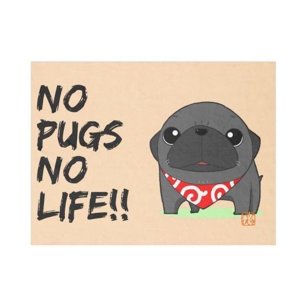 ひざかけ NO PUGS NO LIFE(黒パグ)1|pugbiiki|02