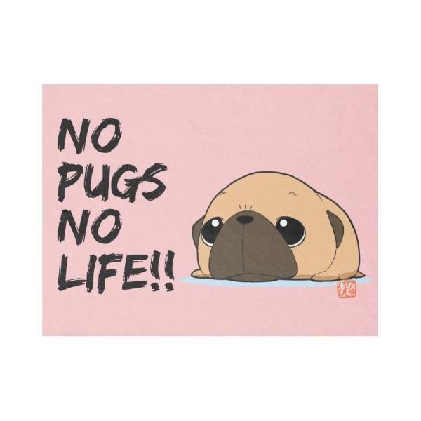 ひざかけ NO PUGS NO LIFE(フォーン)1 pugbiiki 02
