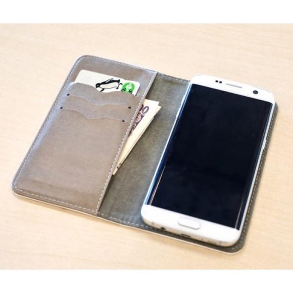 手帳型ケース ベルト無し iphone/Androidケース 黒パグピラミッド(ぱぐ グッズ)|pugbiiki|10