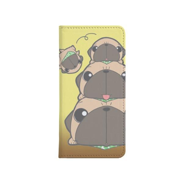 手帳型ケース ベルト無し iphone/Androidケース パグピラミッド(フォーン)(ぱぐ グッズ)|pugbiiki|02