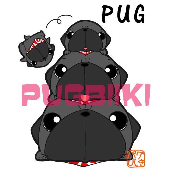 パグピラミッド(黒パグ)サコッシュ|pugbiiki|02