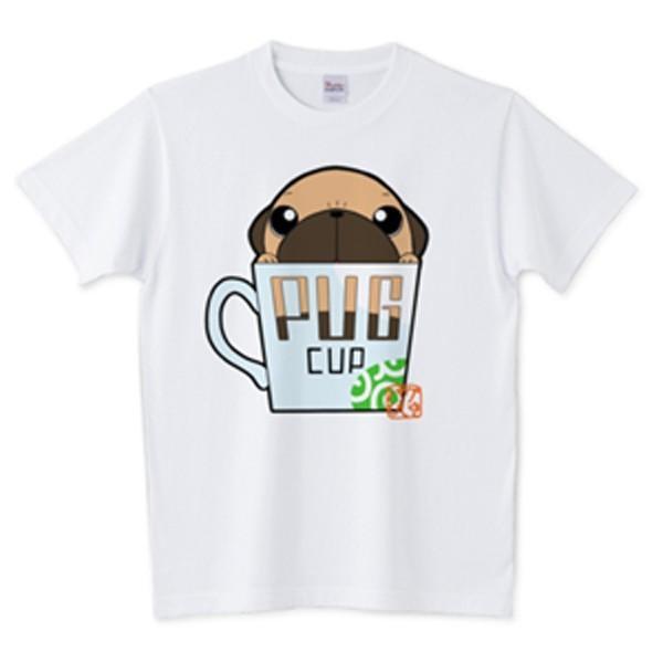 色・サイズ豊富! パグピラミッド(フォーン)5.6オンスTシャツ(ぱぐ グッズ)|pugbiiki|15
