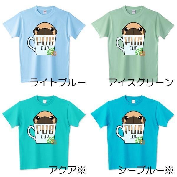 色・サイズ豊富! パグピラミッド(フォーン)5.6オンスTシャツ(ぱぐ グッズ)|pugbiiki|05