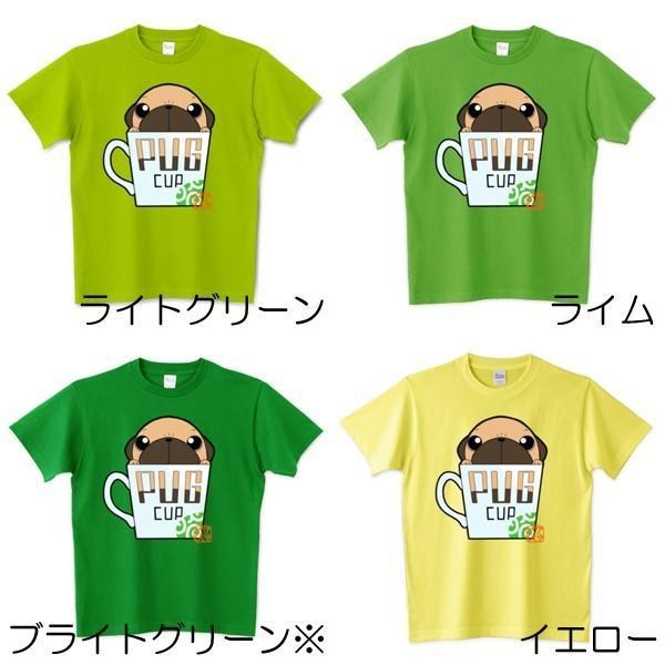 色・サイズ豊富! パグピラミッド(フォーン)5.6オンスTシャツ(ぱぐ グッズ)|pugbiiki|06