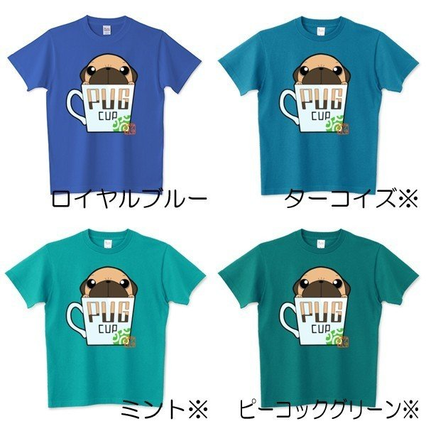 色・サイズ豊富! パグピラミッド(フォーン)5.6オンスTシャツ(ぱぐ グッズ)|pugbiiki|09